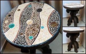 שקדיה - שולחן קרטון פסיפס