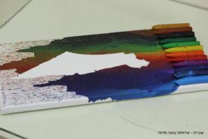 שקדיה - טכניקת נזילה בצבעים