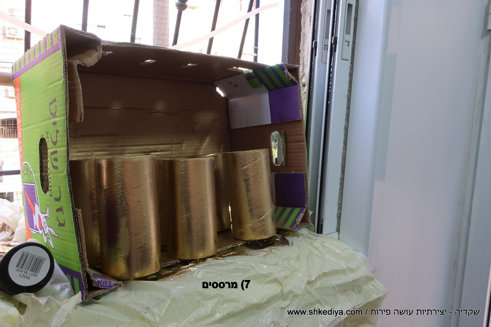 מרכזי שולחן לבלונים מגלילי קרטון - שקדיה
